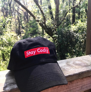 Adjustable Stay Cocky Box Logo Hat