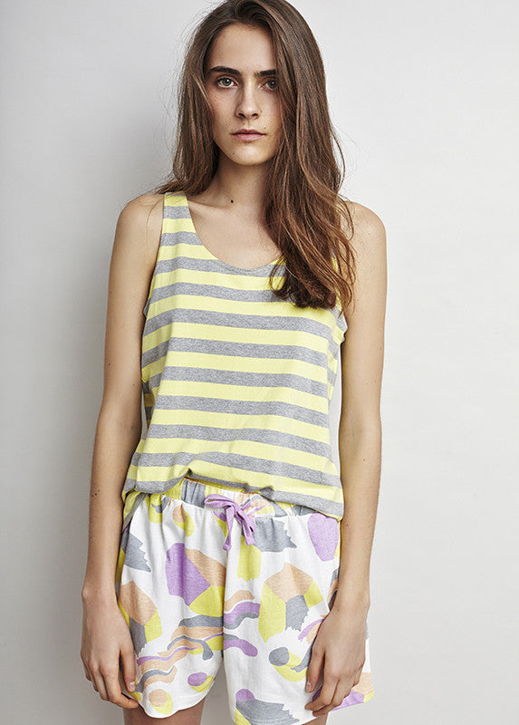 ALAS Sunshine Stripe Singlet - humanity : style with a conscience