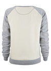 Ruby Dreams 2 Tone Grey Sweatshirt - humanity : style with a conscience