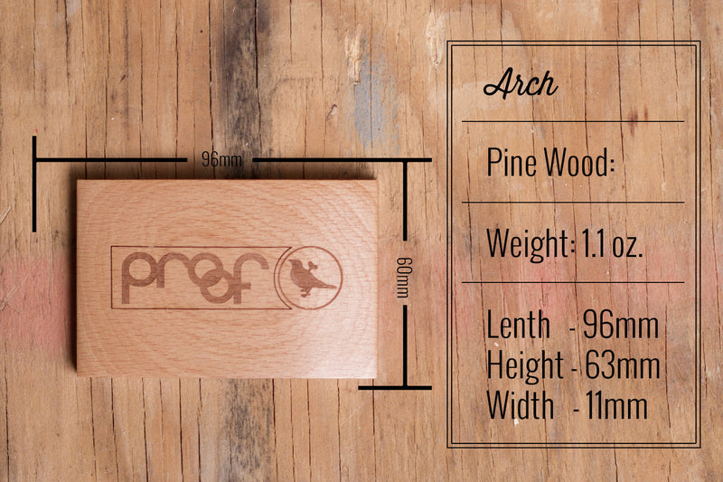 Proof Arch Wood Wallet - humanity : style with a conscience