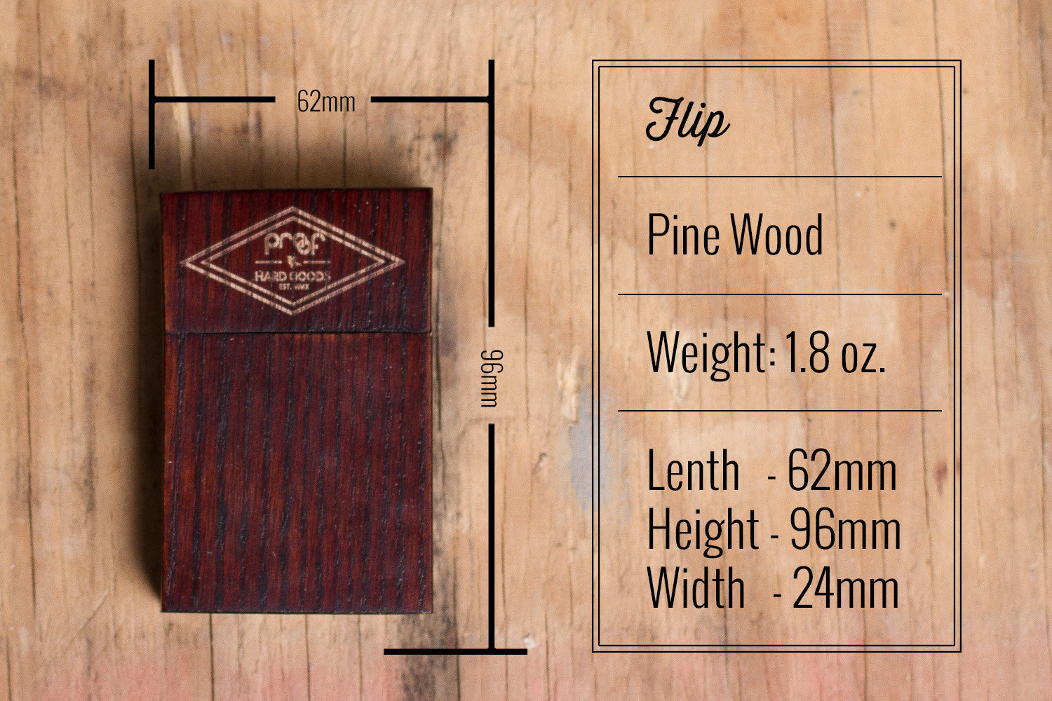 Proof Flip Wood Wallet - humanity : style with a conscience