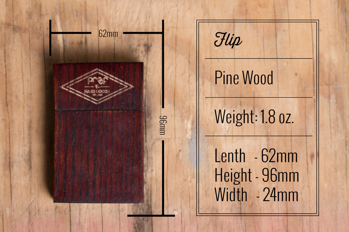 Flip Wood Wallet - humanity : style with a conscience