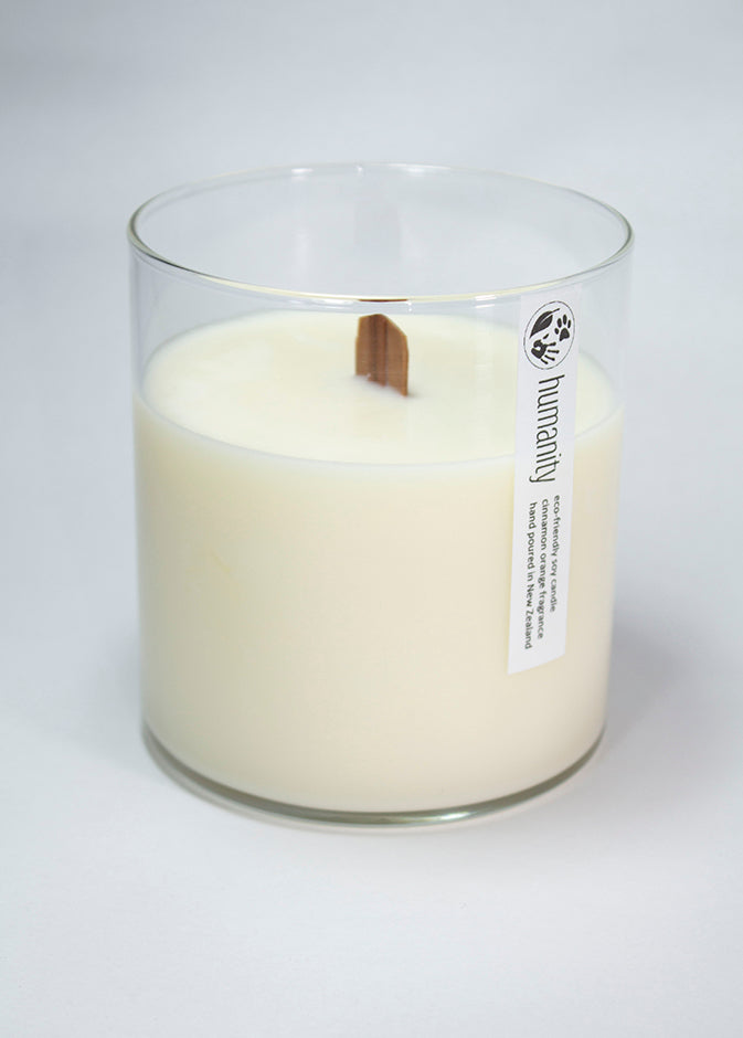 Sandalwood & Musk - Large Wooden Wick Candle