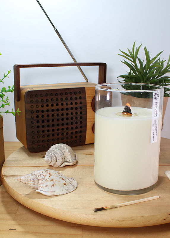 Lemongrass & Ginger - Extra Large Wooden Wick Candle