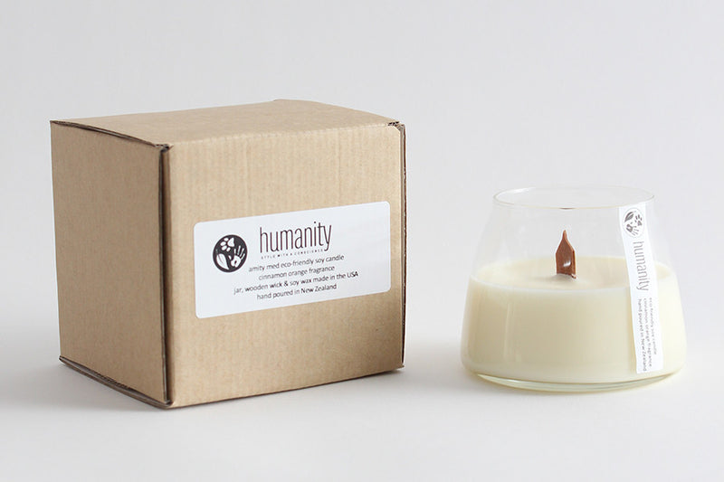 Amity Medium Wooden Wick Sandalwood Musk - humanity : style with a conscience