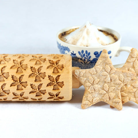 Christmas Bells and Holly Rolling Pin