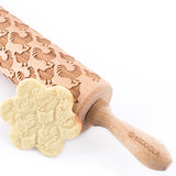 Rooster & Hen/Chicken Engraved Rolling Pin