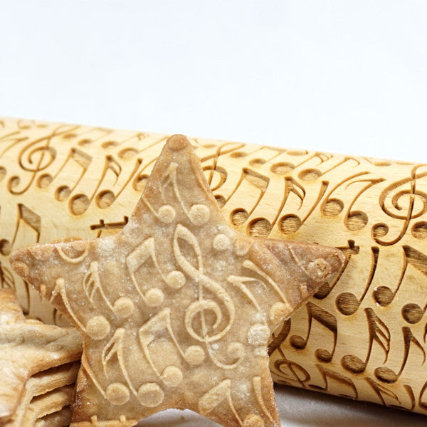 Music Notes Rolling Pin