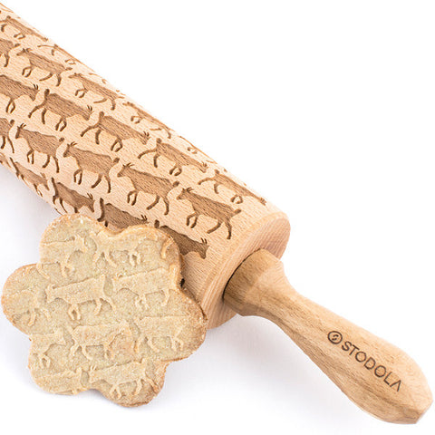 Goat Engraved Rolling Pin
