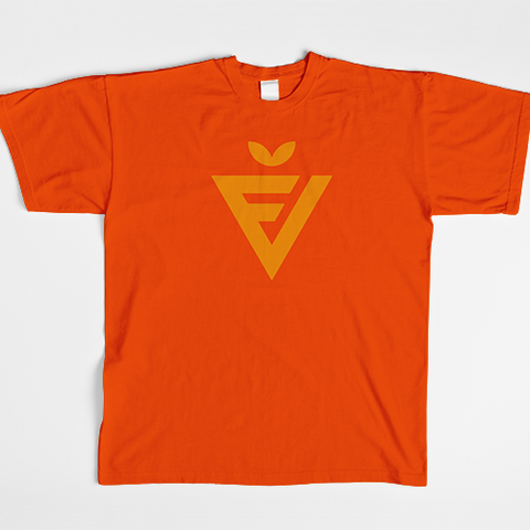 Men's Orange Badge Tee