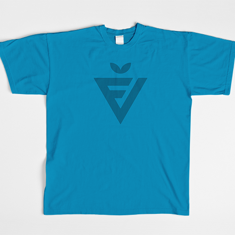 Men's Teal Badge Tee
