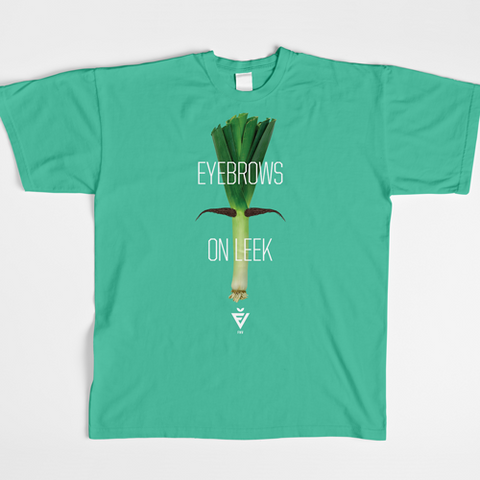 Women's Mint Eyebrows On Leek Tee