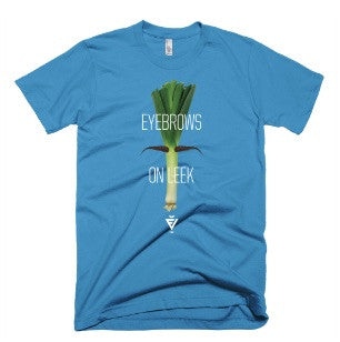 Men's Teal Eyebrows on Leek Tee