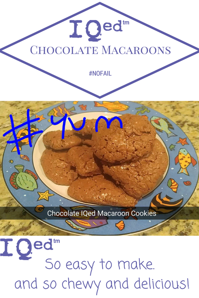 IQed Chocolate Macaroon Cookies