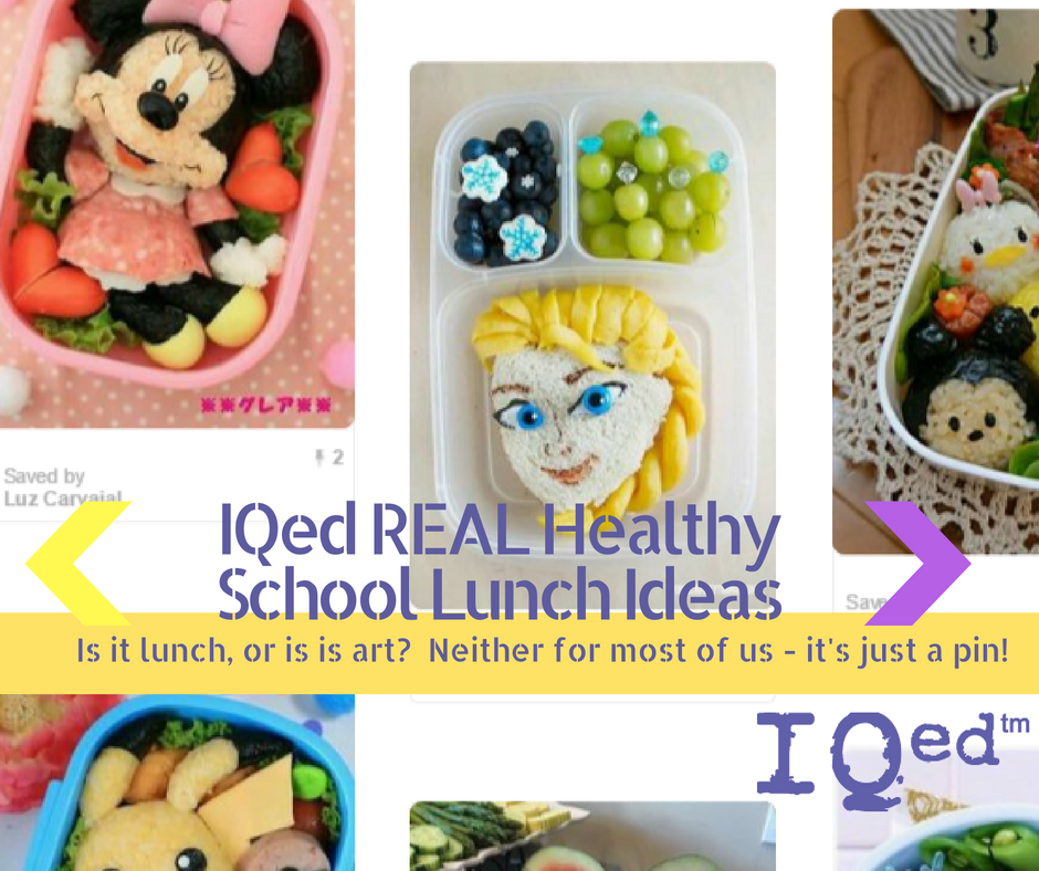 IQed REAL Healthy School Lunch Ideas