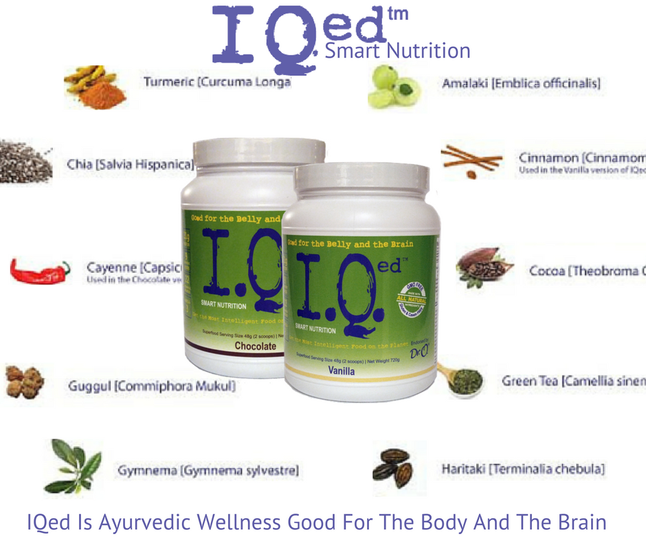 IQed is ayurvedic wellness that is good for the body and the brain