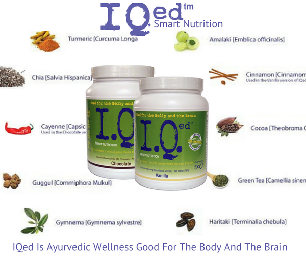 IQed loaded with ayurvedic wellness for the body and brain