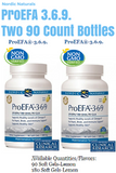 Two 90 Count Bottles Nordic Naturals NN ProEFA 3.6.9