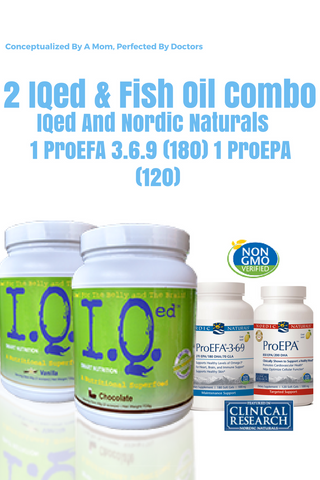 IQed and Nordic Naturals NN ProEFA 3.6.9 and ProEPA
