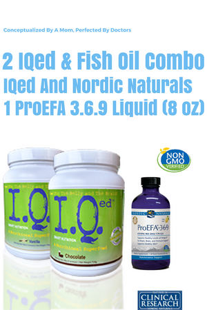 IQed and Nordic Naturals NN ProEFA 3.6.9 Liquid