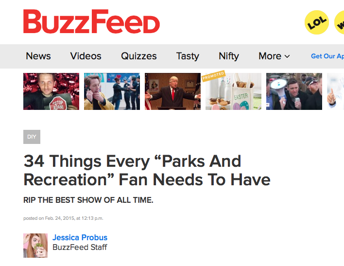 Parks and Recreation Fan Mug on BuzzFeed