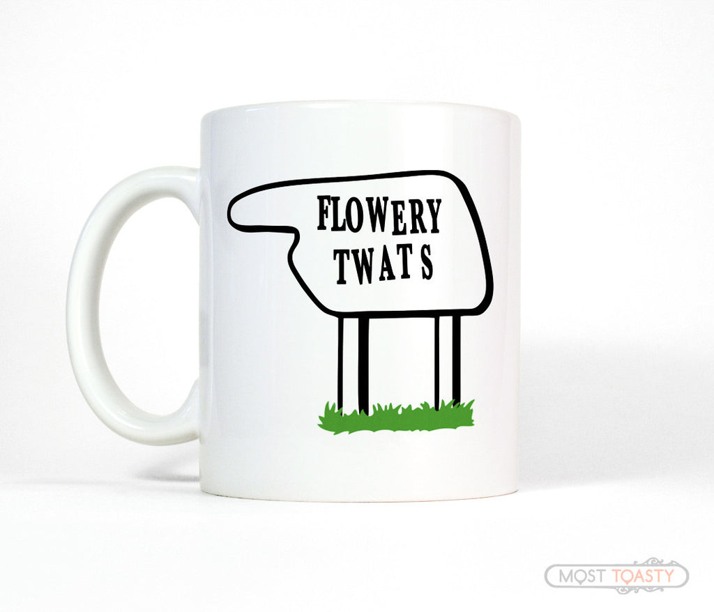 Fawlty Towers Hotel Sign Coffee Mug, Funny Tea Cup