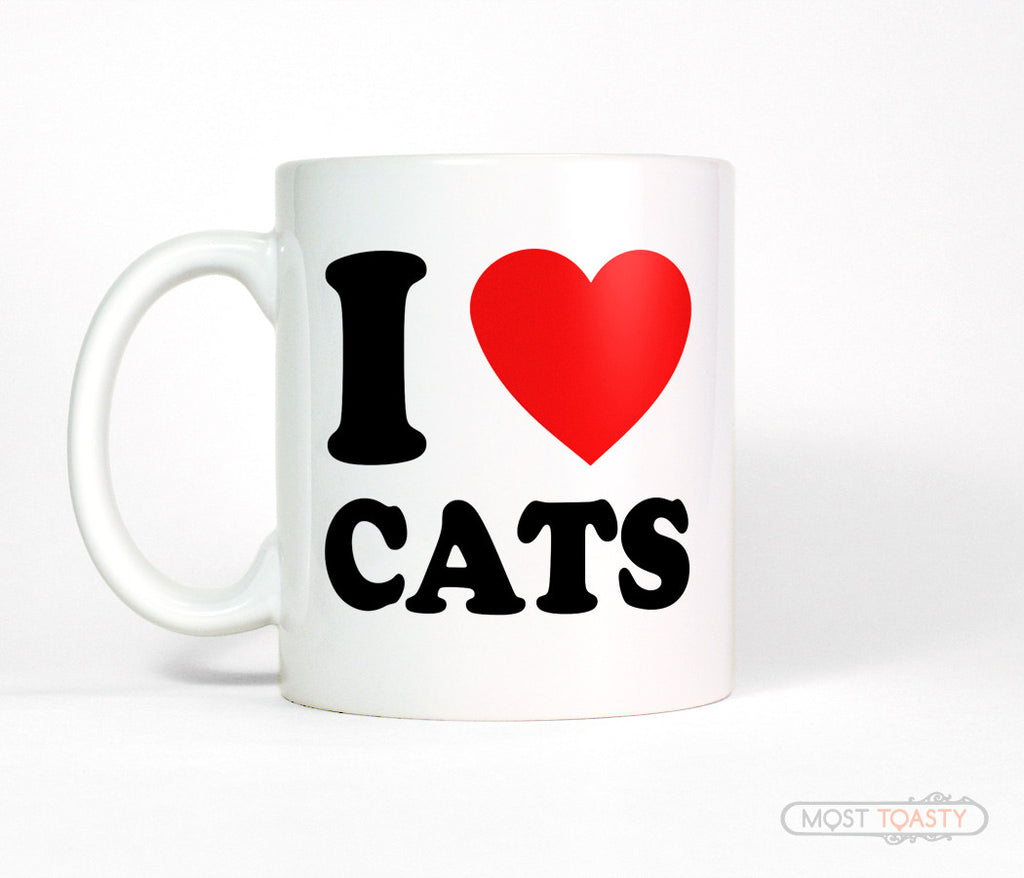I Heart Cats Ceramic Coffee Mug