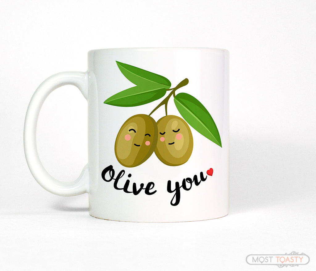 Olive You Cute I Love You Coffee Mug Gift