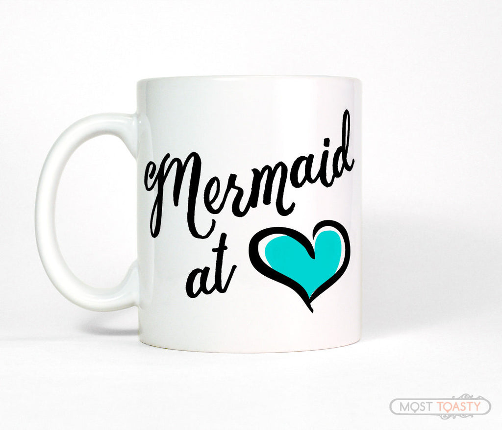 Mermaid at Heart Ceramic Coffee Mug