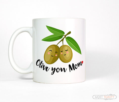 Olive You Mom Cute I Love You Mother's Day Coffee Mug Gift