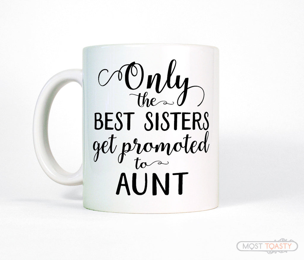 New Aunt Coffee Mug, Pregnancy Reveal Gift for Sister