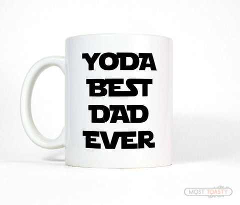 Yoda Best Dad Ever Ceramic Coffee Cup, Star Wars fan Mug
