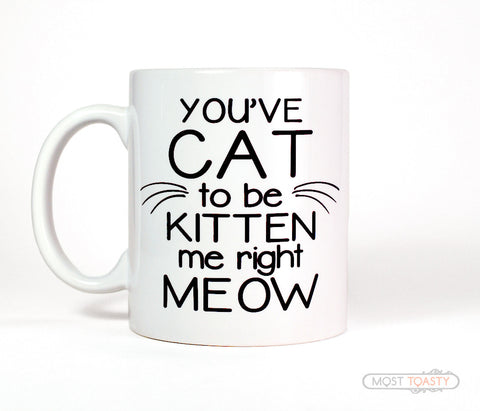 You've Cat To Be Kitten Me Right Meow Ceramic Coffee Mug