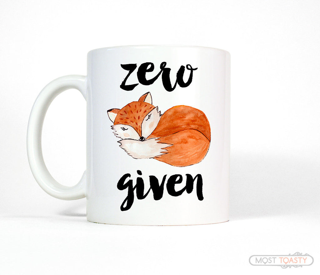 Zero Fox Given Funny Ceramic Coffee Mug