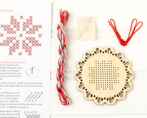 Red Gate Stitchery Holiday Ornament Kit