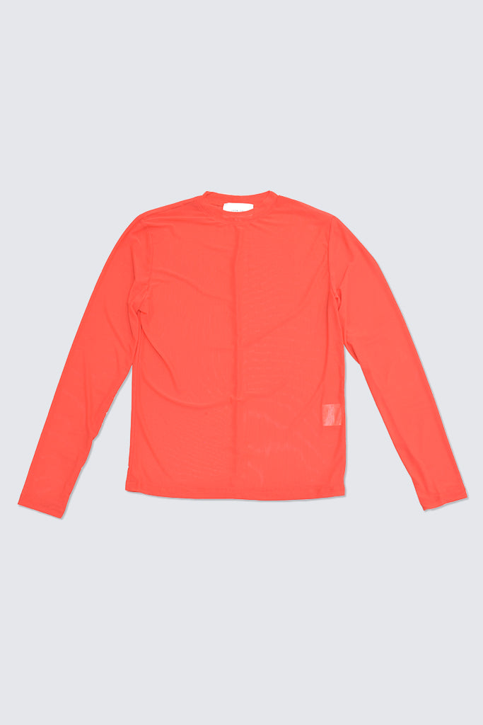 Hosbjerg - Carles L/S Mesh Top Red
