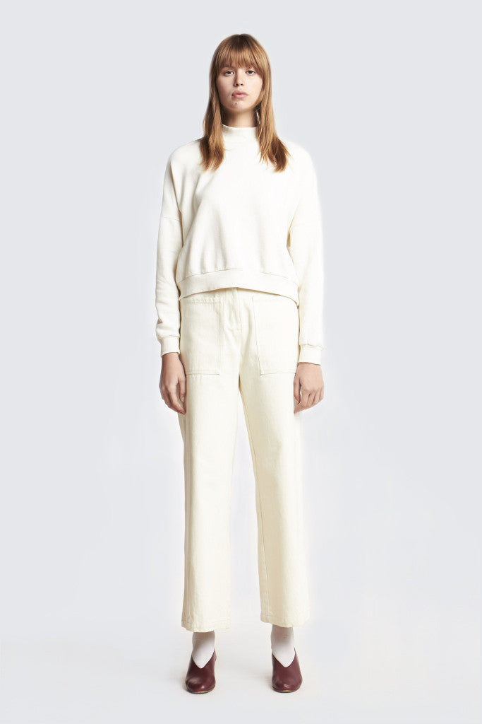 Kloke - Magnetic Wide Leg Pant Chalk