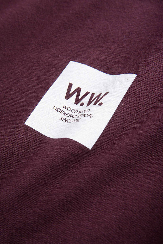 Wood Wood - Box T-shirt Burgundy