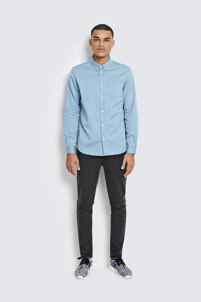 WEARECPH - Gaston L/S Shirt Light Blue