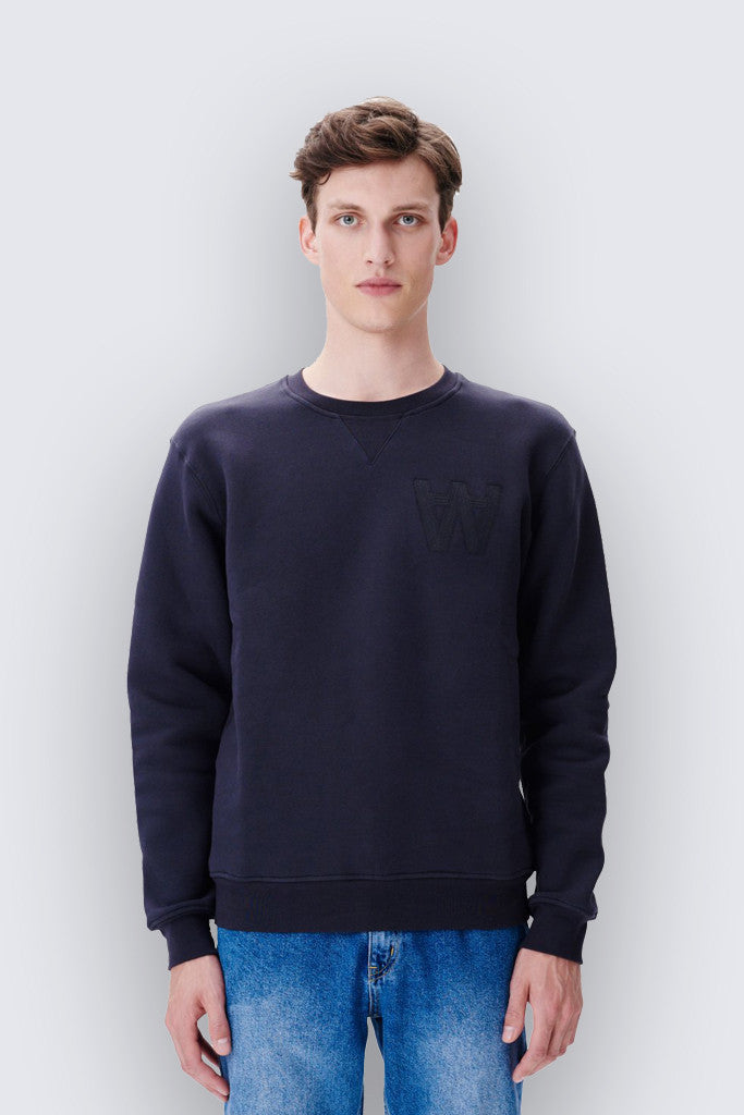 Wood Wood - Houston Sweatshirt Dark Navy