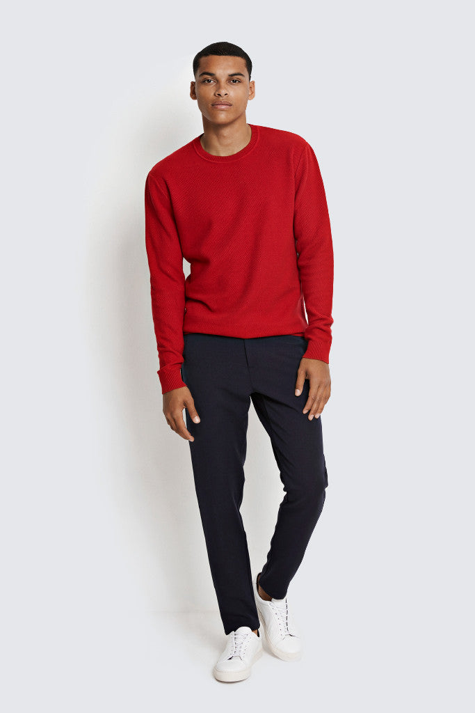 WEARECPH - Marcin O Neck Knit Red