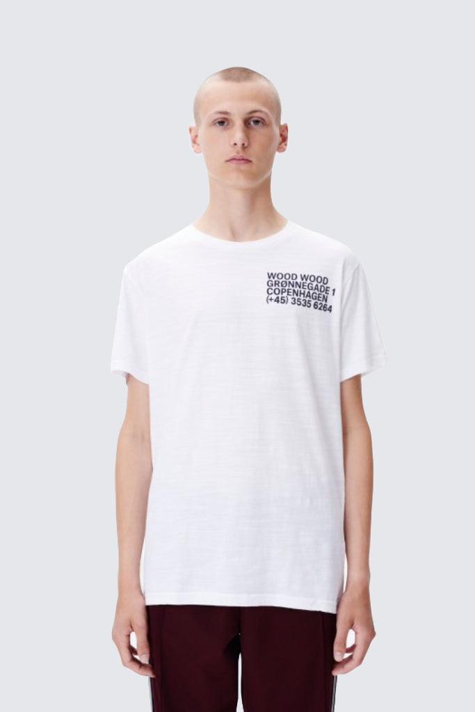 Wood Wood - Slater Tshirt Bright White