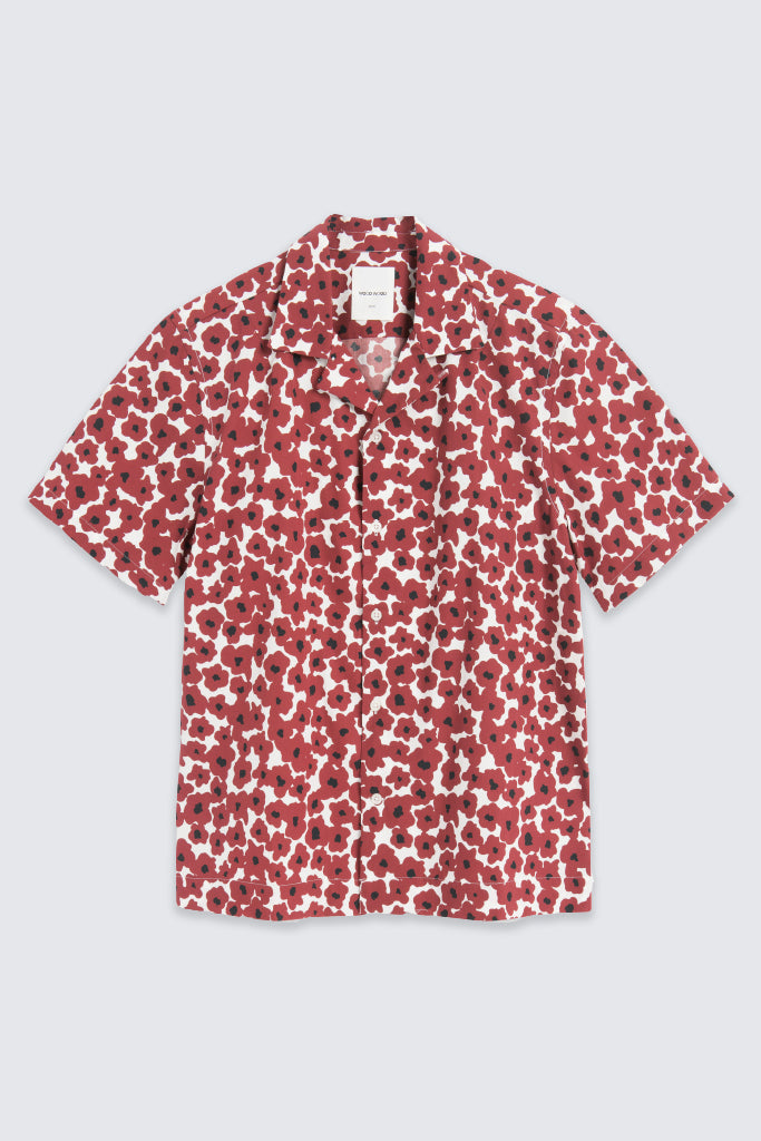 Wood Wood - Brandon S/S Shirt Floral Red
