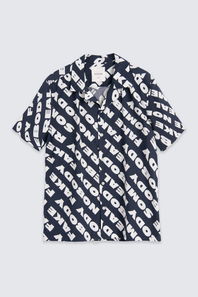 Wood Wood - Brandon S/S Shirt Navy