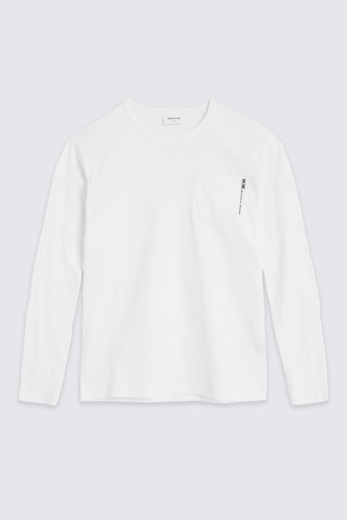 Wood Wood - Lui longsleeve Bright White