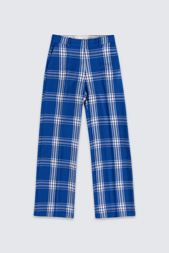Wood Wood - Petra Trousers Blue Check