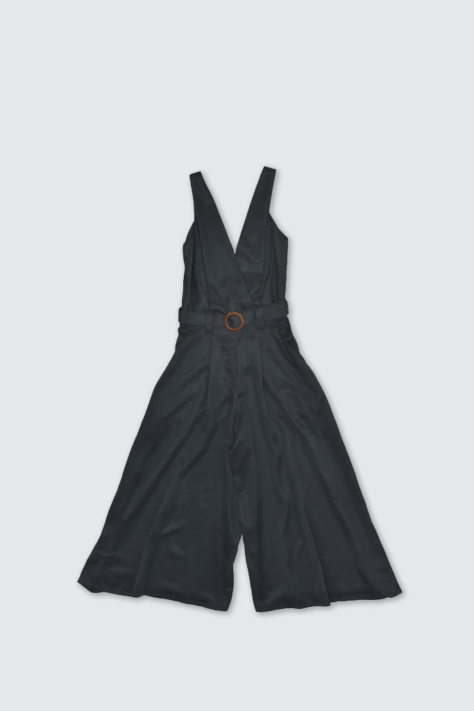 Dress Up - Crossover Jumpsuit Charcoal