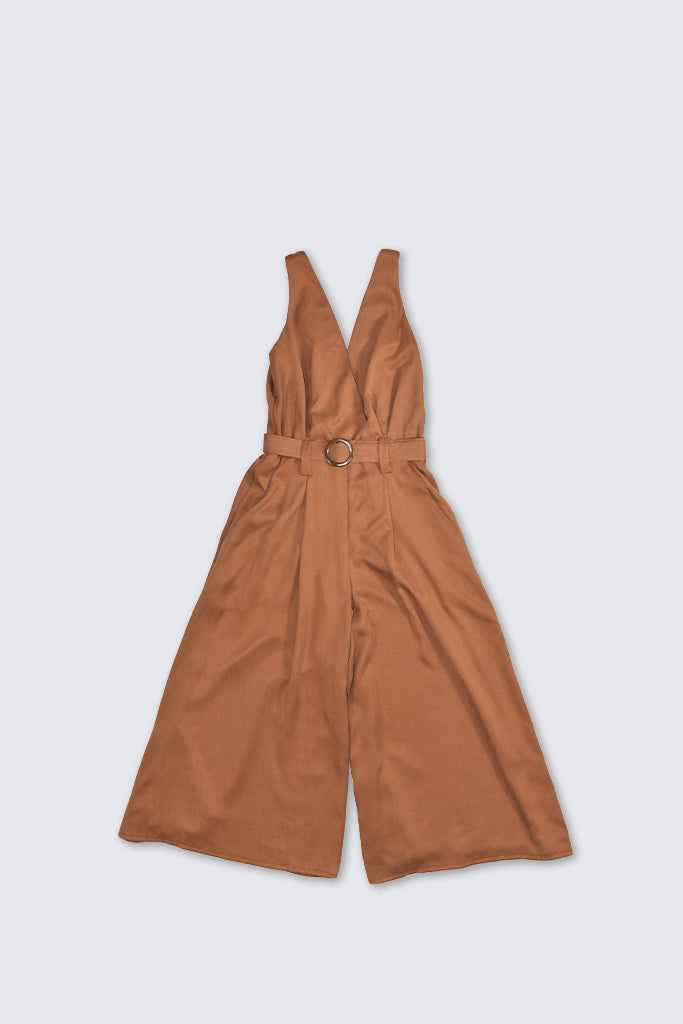 Dress Up - Crossover Jumpsuit Rust