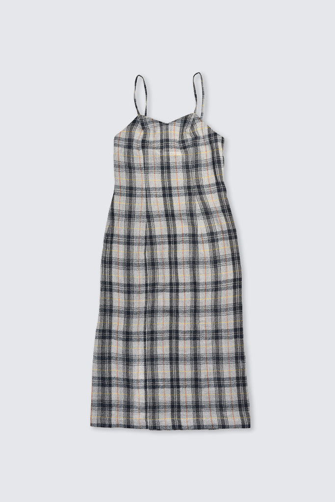 Dress Up - Plaid Wool Slip Dress