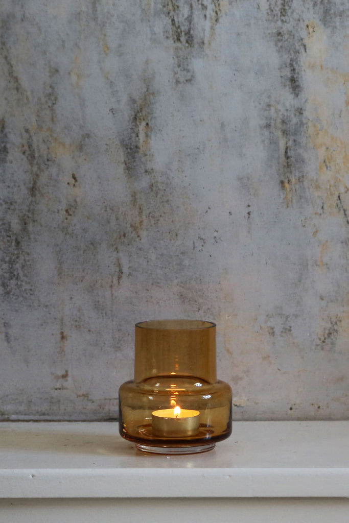 Ro Collection - Hurricane Tealight No.25 Amber